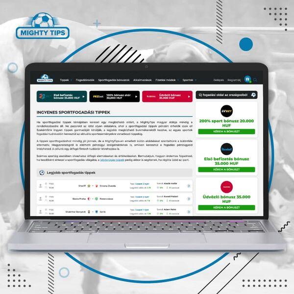 Mightytips weboldal